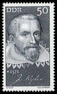 The GDR stamp featuring Kepler