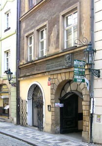 Karlova street in Old Town, Prague – house where Kepler lived. Museum